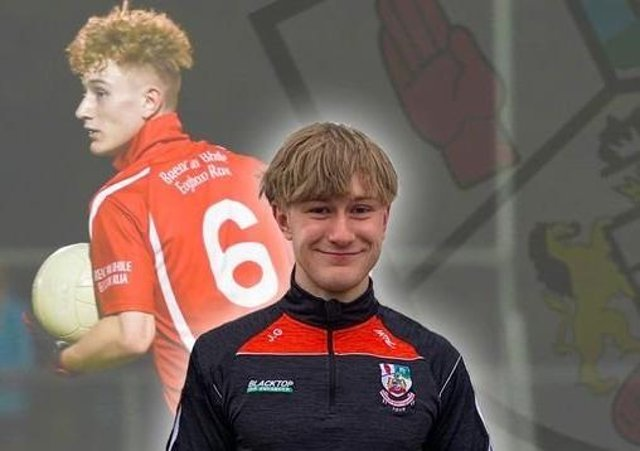 Tributes have been paid to keen GAA player Joshua Griggs, who died after a road traffic accident in Banbridge. Photo: Breac an Bhile Eoghan Rua GFC.