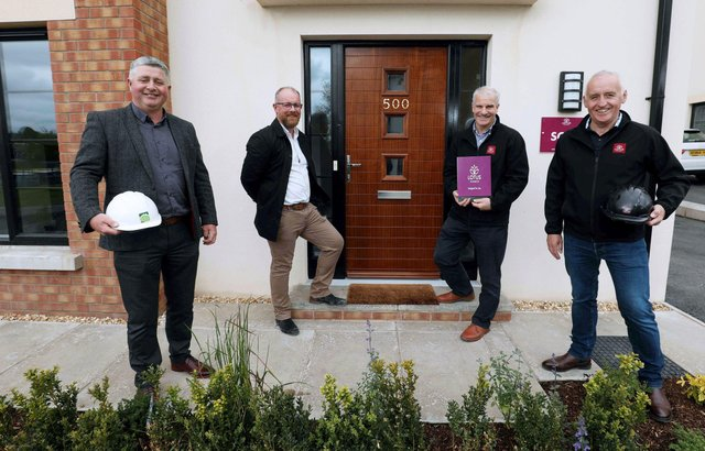 Paul and Stephen Carr, directors of Carr Brothers with Paul O'Rourke, residential development director at The Lotus Group and Ciaran Murdock, chief executive at The Lotus Group