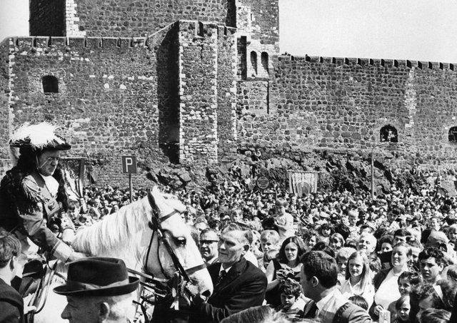 King William arrives at Carrickfergus Castle in June 1969. Picture: News Letter archives