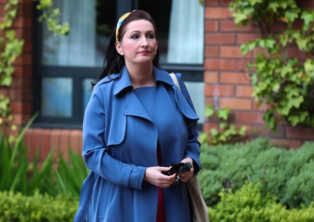 Emma Little-Pengelly at the Crowne Plaza Hotel in Belfast before the recent meeting to ratify Edwin Poots as the DUP's new leader.Photo by Kelvin Boyes / Press Eye