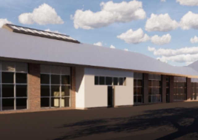 An artist's impression of the new Islandmagee Primary School.