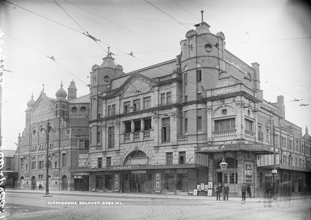 The Royal Hippodrome in Belfast. Photographer: Almost certainly Robert French of Lawrence Photographic Studios, Dublin. NLI Ref.: L_ROY_08383. Picture: Natrional Library of Ireland