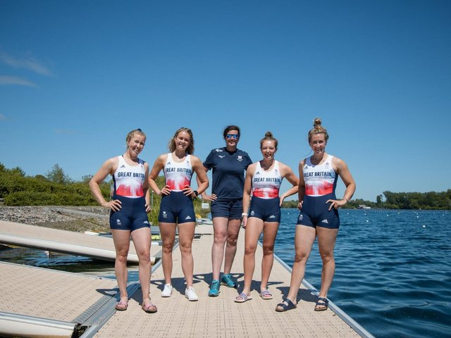 Hannah Scott (second from left) is off to Tokyo 2020. PICTURE: Izzy Cooper, British Rowing