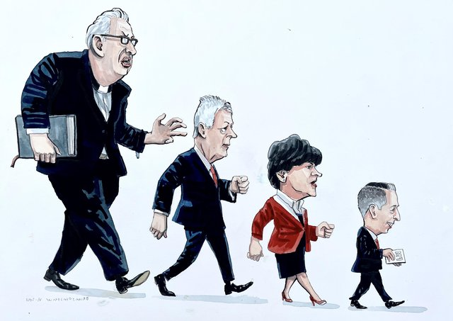 Cartoonist Brian John Spencer's take on the decline of the DUP