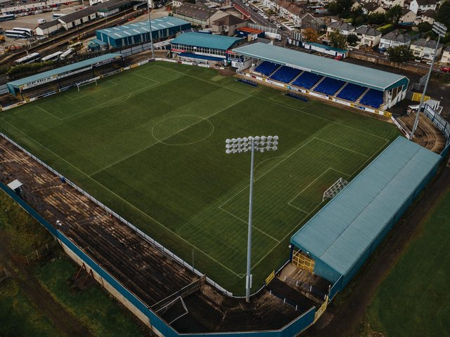How the Showgrounds looked at the end of the season. PICTURE: David Cavan