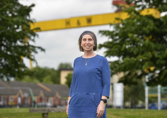 Linda Ervine founder of Turas, an Irish language project, who has been awarded an MBE for services to the community in East Belfast