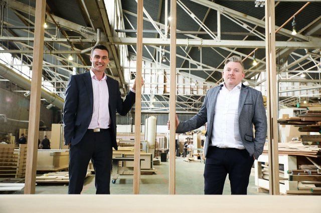 Neil McCabe, Investment Director at Whiterock Finance is pictured with Anthony Doyle, Finance Director at Pure Fitout