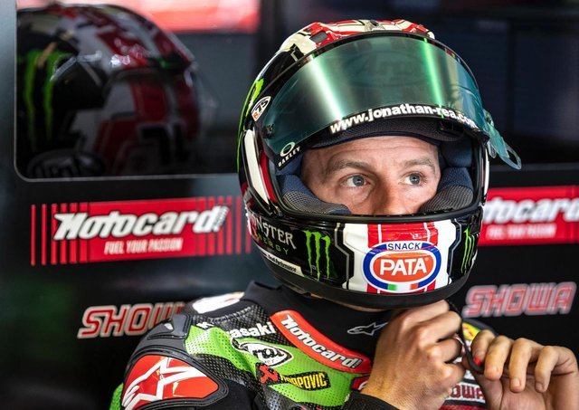 Jonathan Rea finished third in Saturday's opening World Superbike race at the third  round of the championship at Misano in Italy.