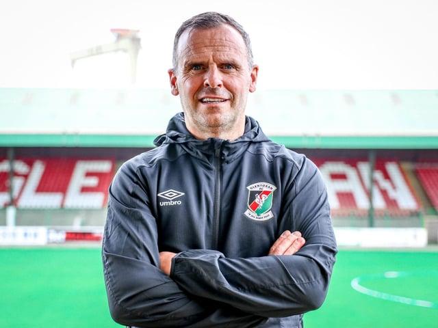 New Glentoran coach Rodney McAree. Picture courtesy of Glentoran FC