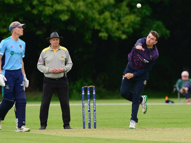 CIYMS's Jacob Mulder pictured bowling against CSNI