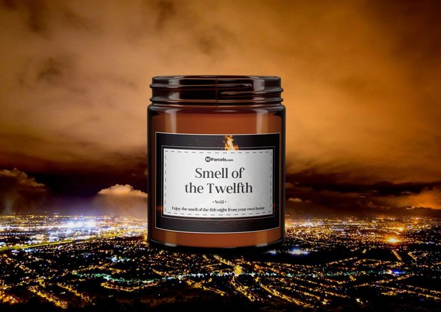 'Smell of the Twelfth' scented candle
