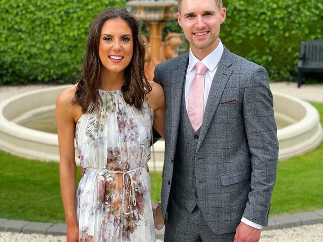 Chris McNeill pictured with his girlfriend Zara Thom