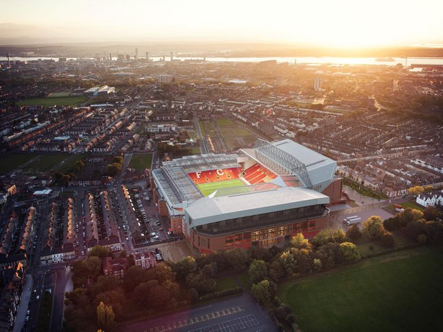 Liverpool's proposed Anfield Road stand redevelopment, which has been granted