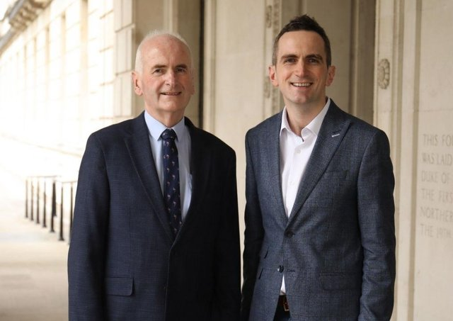 Gordon Dunne and son Stephen. Photo by Kelvin Boyes / Press Eye.