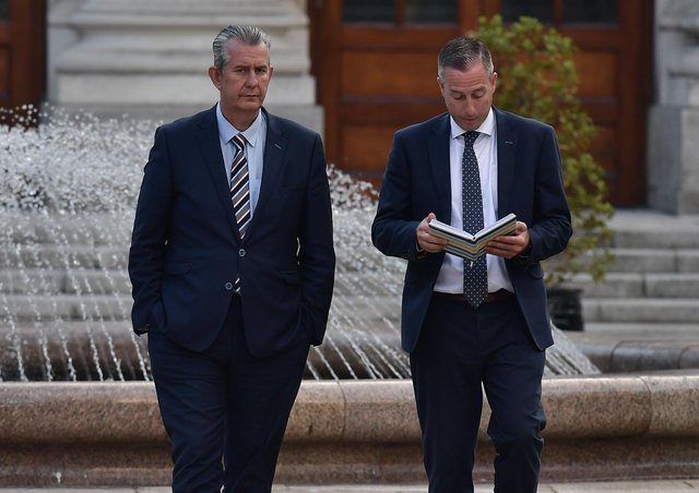 Edwin Poots and Paul Givan. Photo by Charles McQuillan/Getty Images)