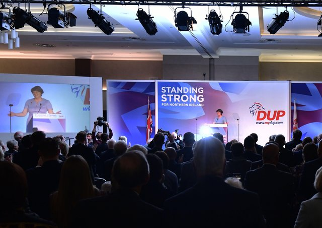 The 2019 DUP conference under the slogan 'Standing Strong'