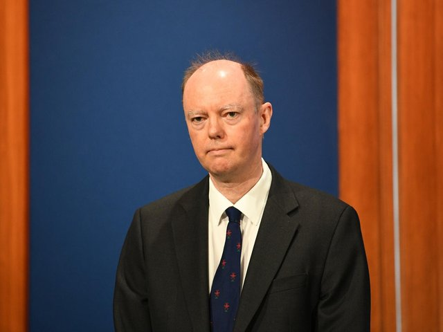 Professor Chris Whitty, during a media briefing in Downing Street