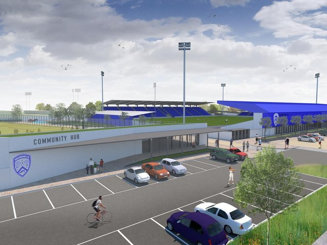 Architect's image of the proposed redevelopment