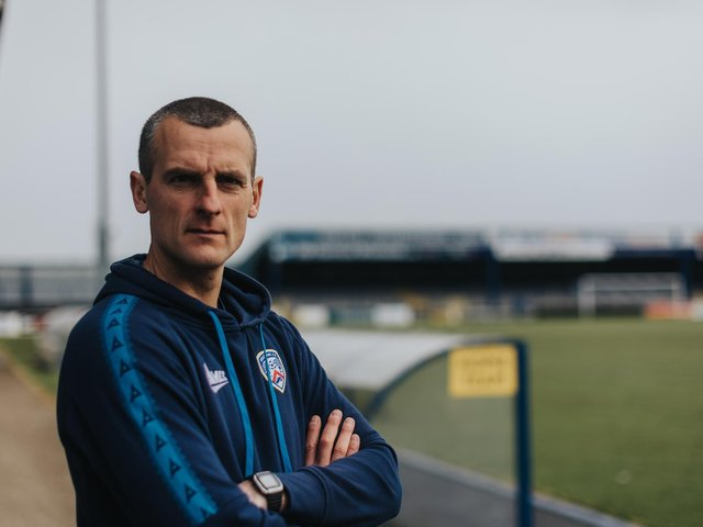 Oran Kearney has signed a new three-year contract with Coleraine