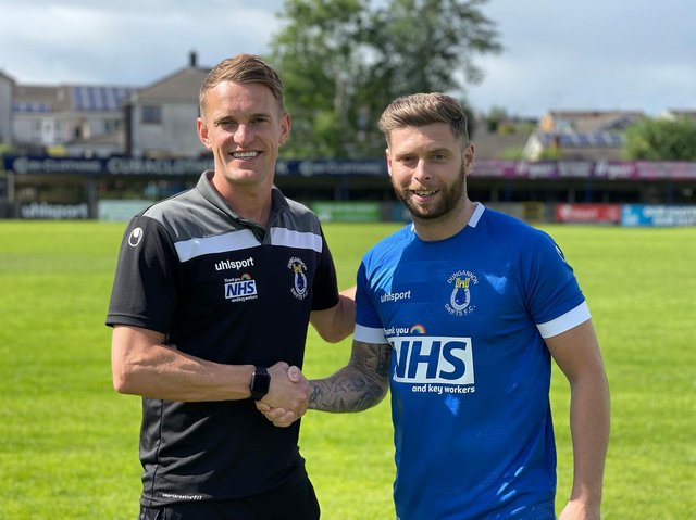 Dean Shiels and new signing, James Knowles.