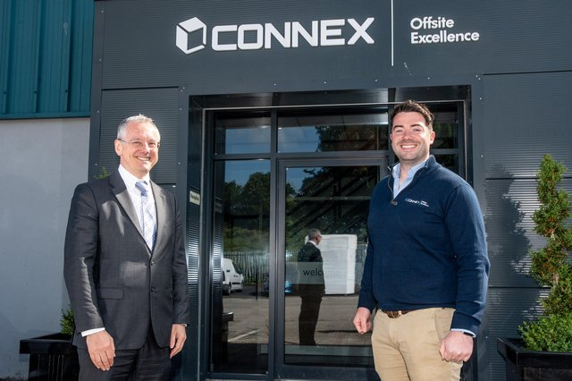 Kevin Holland, CEO, Invest NI with Brendan Doherty, Director of Connex Offsite