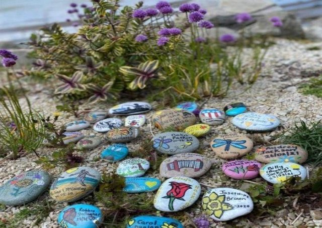 The Memory Stones of Love are taken on tour to various locations