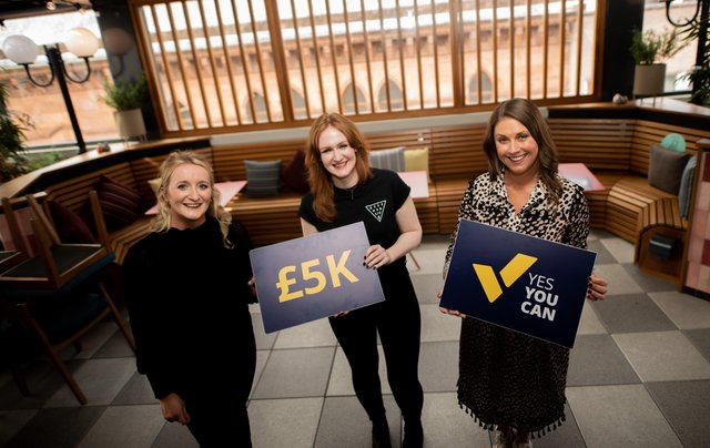 Pictured are Nicky Scott (Head of Programmes at Women in Business), Laura Mulkeen (Founder of Hex Workwear), and Sarah Travers (Former BBC News Journalist and Event Host).