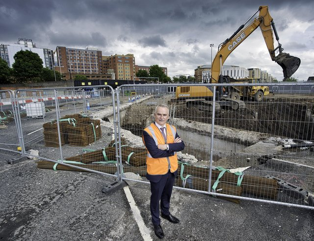Chris Conway, Chief Executive at Translink, on the site of the new integrated Belfast Transport Hub, part of the transformational Weavers Cross development