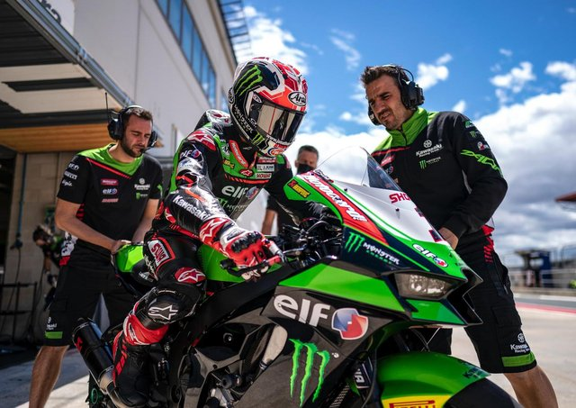 Jonathan Rea was third fastest during a two-day test at Navarra in Northern Spain, which will host a World Superbike round for the first time in August.