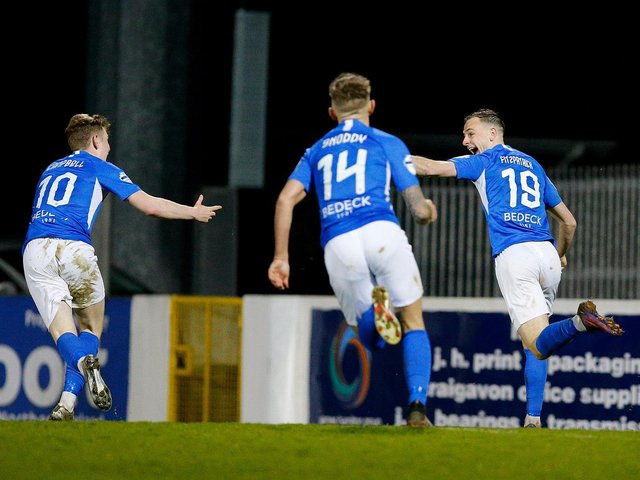 Matthew Fitzpatrick (right) and Peter Campbell (left) have signed new deals with Glenavon