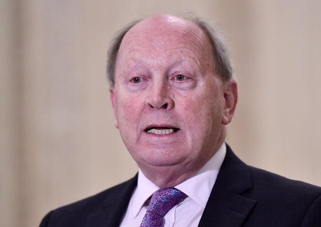 TUV leader Jim Allister has criticised Sir Jeffrey Donaldson's position on Irish language legislation. Photo by Jonathan Porter/PressEye