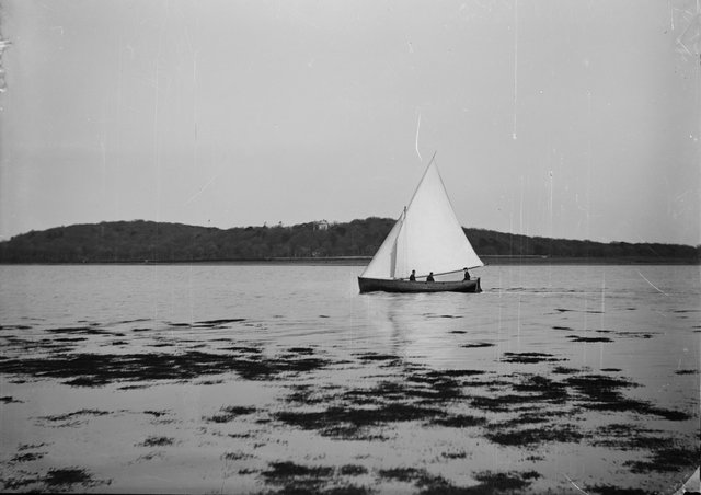 An archive photo of the yacht Mountstewart on Strangford Lough. The photo is included in the National Trust's exhibition at Mount Stewart on the disaster when the Mountstewart sank.