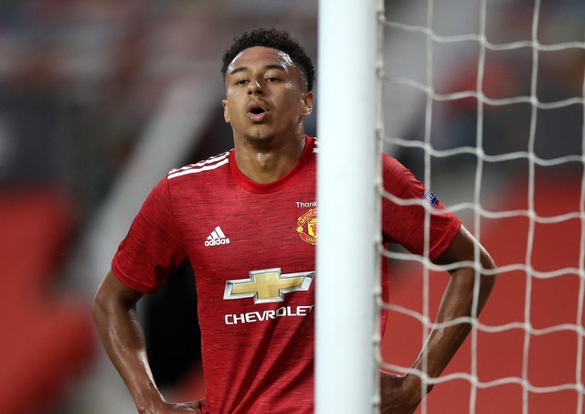 Does Jesse Lingard's future remain at Manchester United? Pic by PA.