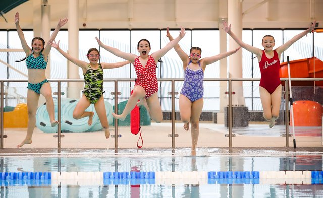 Ava Burns, Fianna Fryers, Holly Holden, Grainne O'Brien and Mia Toal kickstart their summer at Andersonstown Leisure Centre