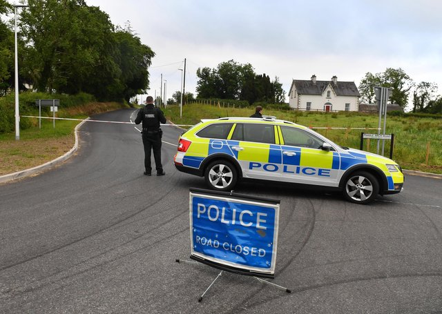 A man has died at the scene of a one-vehicle crash in Enniskillen, Co Fermanagh in the early hours of Tuesday. The incident happened on the Marble Arch Road in the Florencecourt area. Photo: Press Eye.