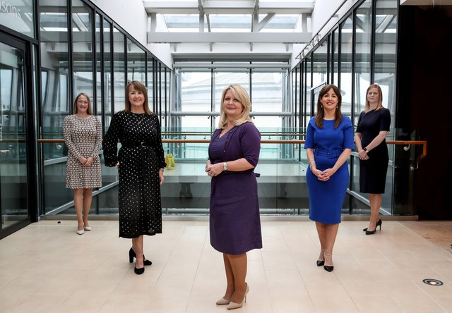 Laura Gillespie, Partner, Pinsent Masons; Ann McGregor, Chief Executive, NI Chamber; Andrea McIlroy-Rose, Partner and Head of Office, Pinsent Masons; Tanya Anderson, Head of International and Business Support, NI Chamber and Joanna Robinson, Partner, Pinsent Masons