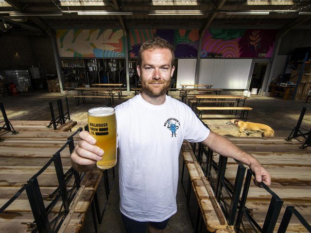 William Mayne, founder of Independent brewery Bullhouse Brew Co at their premises on Boucher Road in Belfast.