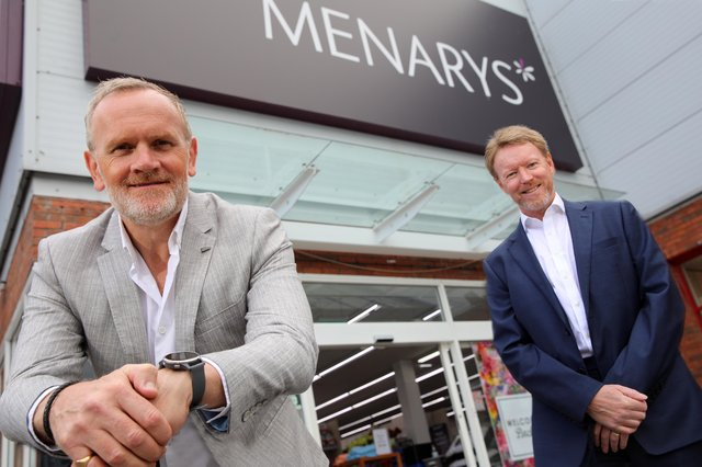 Stephen McCammon, MD of Menarys and Ken Rutherford, Executive Partner, DWF in Northern Ireland