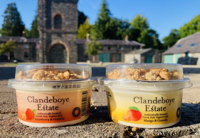 The new granola topped yoghurts