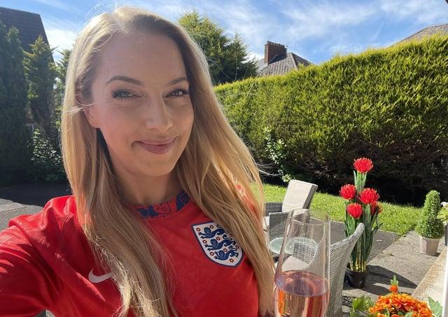 BBC's Northern Ireland correspondent Emma Vardy felt she was in the minority cheering on England in Belfast