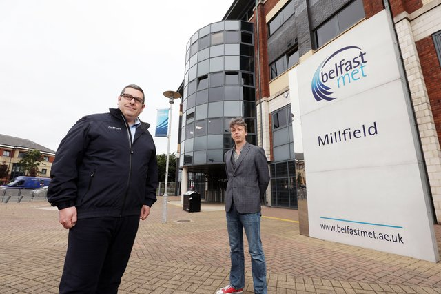 Artemis Technologies Director of Manufacturing Simon Locke joins Bill McEwan, Lecturer, Aeronautical Engineering at Belfast Met