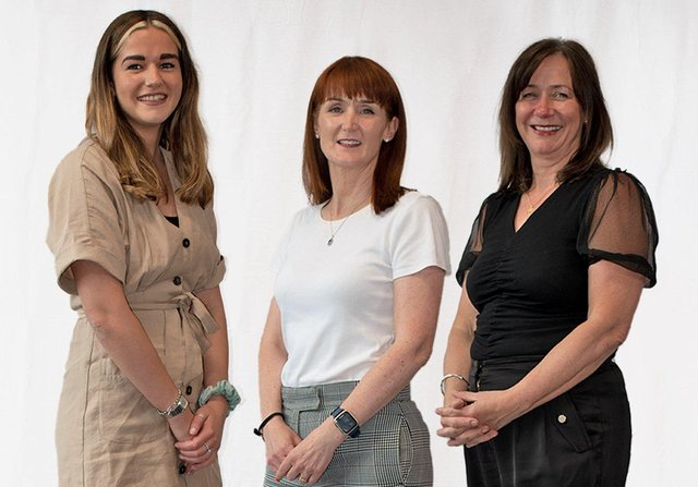 Jenny Cromie, US Key Account Manager with Dr Roisin Molloy, TriMedika CEO, co-founder and Julie Brien, TriMedika COO, co-founder