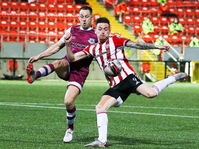 Derry City striker David Parkhouse. Picture by Kevin Moore/MCI
