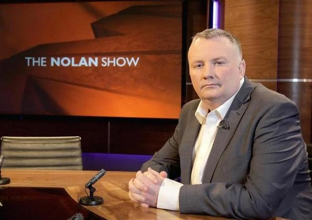 Loyalist Jamie Bryson is set to sue the Twitter user who paid Stephen Nolan (above) a six figure sum for libel.