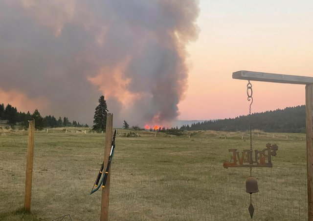 Record heat in British Columbia, Canada, causes a wildfire in Kamloops, on Wednesday, June 30, 2021. Canada is not normally one of the hottest countries, because it is so far north (Courtesy of Marshall Potts Music via The Canadian Press via AP)