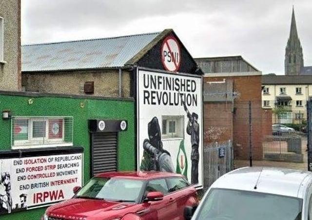 An anti-PSNI mural in 2019 in Londonderry's republican-dominated Bogside