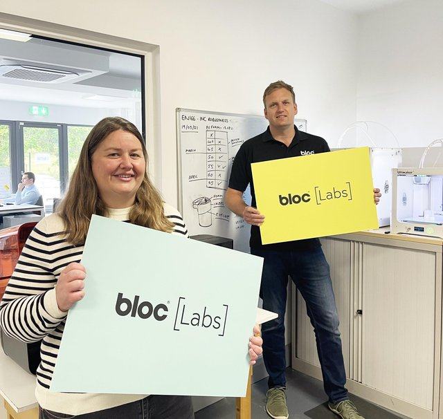 Dr Rachel Gawley who has joined Bloc Labs as Chief Technologist and Site Lead, and Bloc, Managing Director, Cormac Diamond