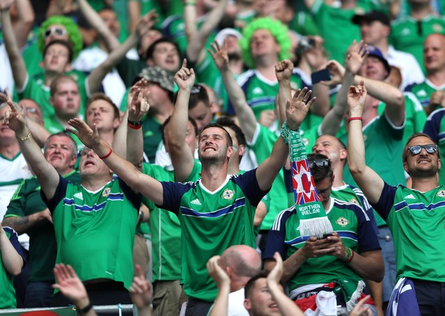 The Green and White Army has staked its claim to Sweet Caroline as a long-established Northern Ireland anthem. Picture Press Eye.