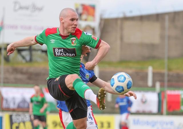 Glentoran's Luke McCullough.
