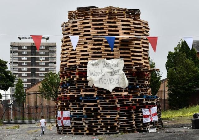 The Adam Street bonfire site.